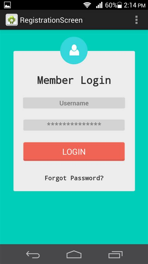 login page in relativelayout saurabh tomar registration login and forgot password ui