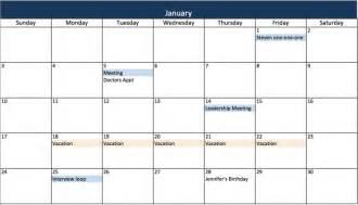 2016 2017 calendar excel free calendar template