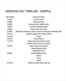 wedding day timeline template 6 wedding day timeline templates free sles exles
