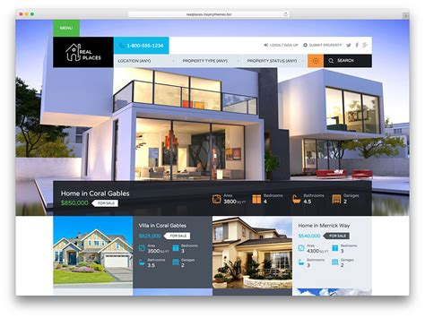 Home Decorating Sites Online by 40 Best Real Estate Wordpress Themes For Agencies
