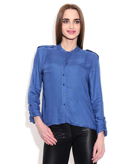 Blouse L Fit Xl Tina Katun Rayon Limited chemistry blue rayon shirt buy chemistry blue rayon shirt at low price snapdeal