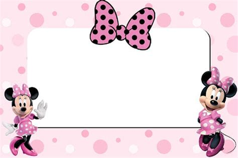 minnie mouse printable invitation card invitations online