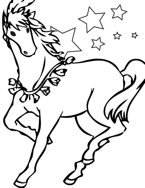 Picture Of A Horse Coloring Page | free printable horse coloring pages for kids