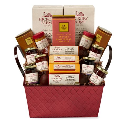 hickory farms savory sweet holiday gift basket hickory