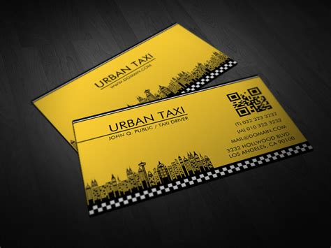business card template for taxi driver yellow cab taxi driver business cards by es32 on deviantart