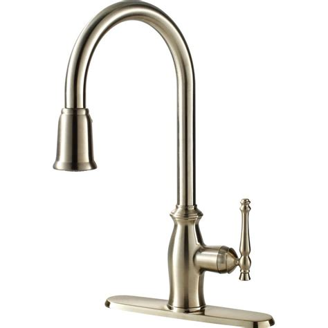 Kitchen Faucet Plumbing Ultra Faucets Traditional Collection Single Handle Pull Sprayer Kitchen Faucet In Stainless