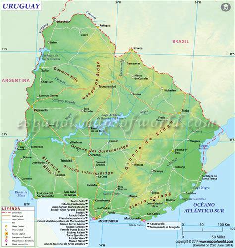 imagenes satelital del uruguay mapa de uruguay uruguay mapa