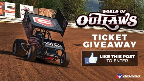 Tickets Giveaway - world of outlaws social media ticket giveaway iracing com motorsport simulations