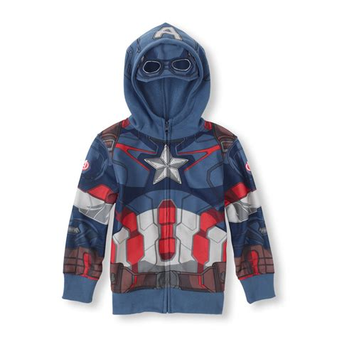 Hoodie Zipper Captain America Redmerch captain america hoodie with mask images