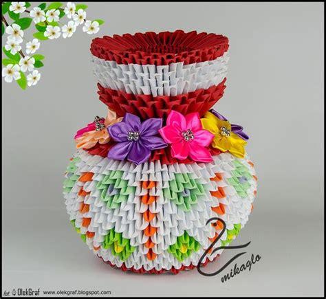 Vase Origami 3d - origami 3d flower vase tutorial mikaglo