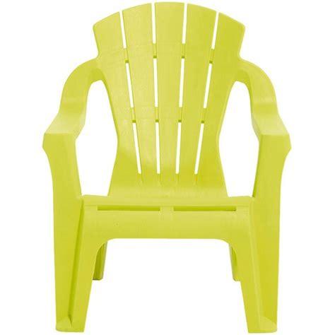chaise jardin enfant fauteuil de jardin plastique pour enfant vert anis