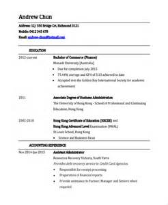 Finance Executive Sle Resume by Sle Finance Resume Template 7 Free Documents In Pdf Word
