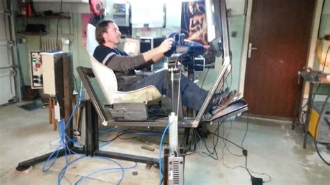 Racing Simulator Chair Hydraulic Pneumatic Driving Simulator