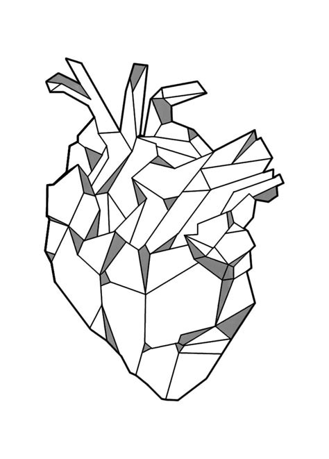 geometric heart tattoo image result for geometric tattoos