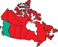canadian map symbols columbia canada ca