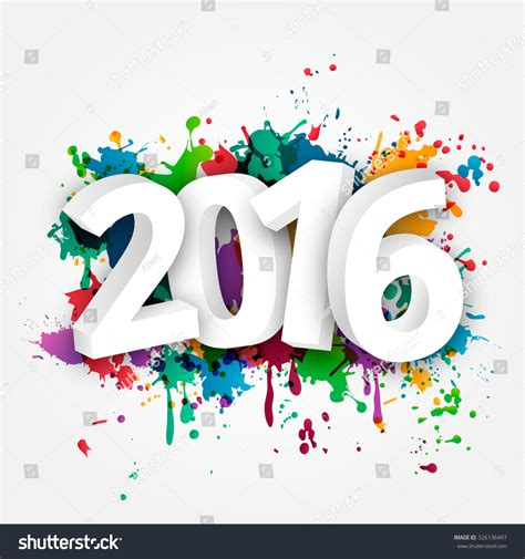 new year celebration 2016 happy new year celebration 2016 colorful stock vector