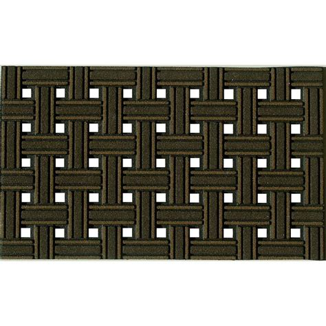Brown Rubber Door Mat Apache Mills Weave Brown 18 In X 30 In Recycled Rubber