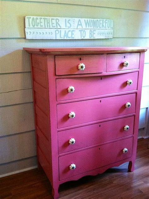 Pink Dresser by Vintage Dresser Painted Pink With White Knobs Painted