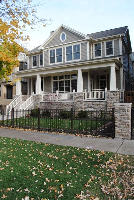 Craftsman Style Architecture by Paulina Private Residence Chicago Craftsman Exterior