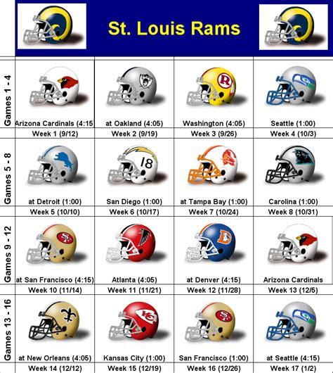st rams schedule st louis rams schedule 2010 bigphotos