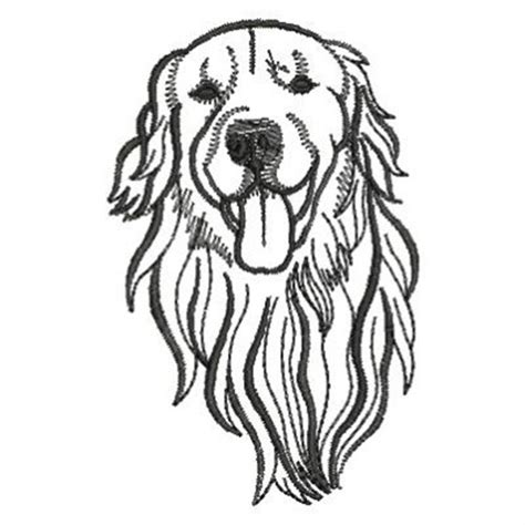 ace points embroidery design golden retriever 2 90 inches