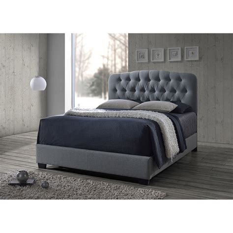 Gray Tufted by Baxton Studio Romeo Contemporary Grey Button Tufted