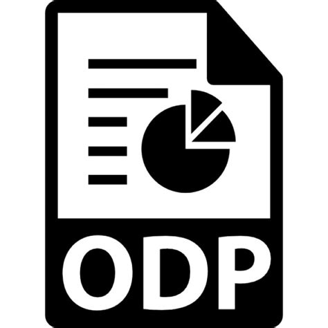 Format File Odp   odp file format symbol icons free download
