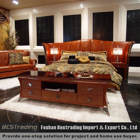 latest design 2015 double king size luxury bedroom sets
