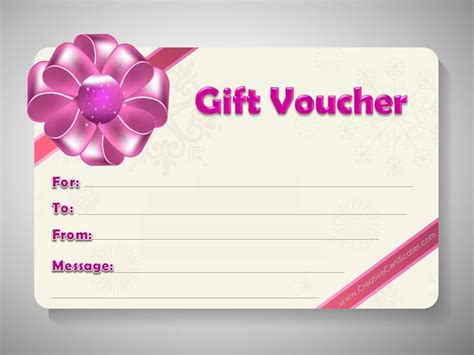 printable vouchers gift voucher template