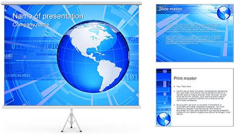 global connection powerpoint template backgrounds id