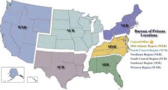 federal prisons in map pin federal bureau of investigation on