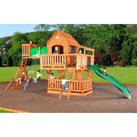 woodridge wooden swing set with slide woodridge cedar swing set playscape playhouse pinterest