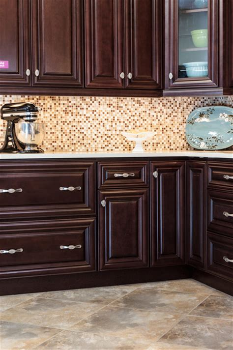 dark chocolate kitchen cabinets palm beach dark chocolate kitchen cabinets traditional kitchen baltimore by cabinets to go