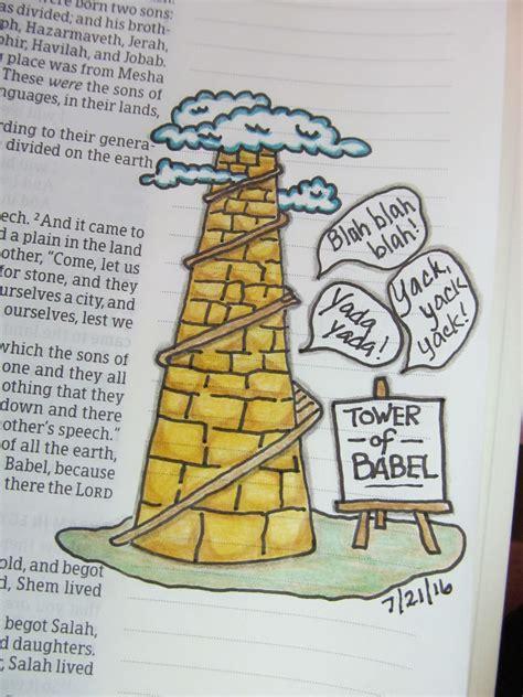 tower of babel genesis 11 1 9 bible journaling