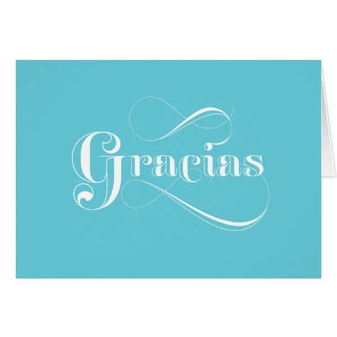 printable thank you cards in spanish gracias blue spanish thank you cards zazzle