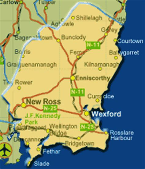 map of wexford the great travels of sue