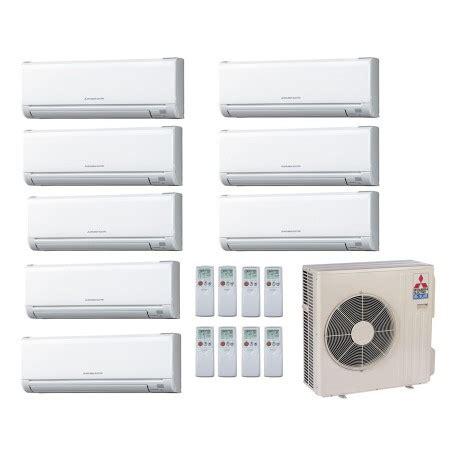 mitsubishi ductless heater mitsubishi 60 000 btu 17 seer ductless 8 zone heat 6