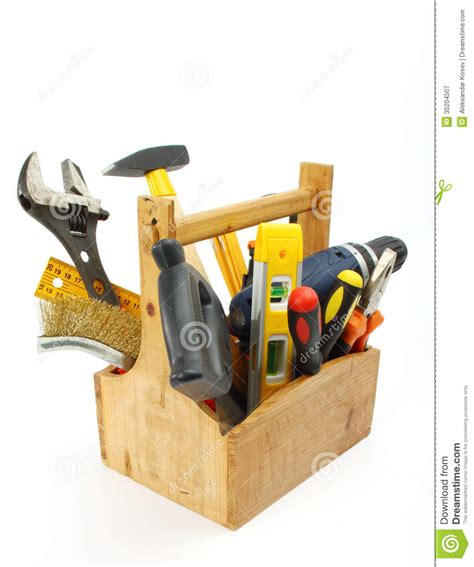 Wooden tool box royalty free stock photography image 35204507