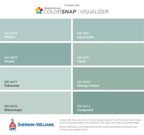 i found these colors with colorsnap 174 visualizer for iphone by sherwin williams watery sw 6478