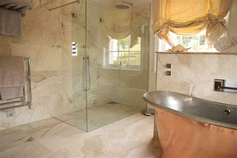 stone floor bathroom 27 nice ideas and pictures of natural stone bathroom wall