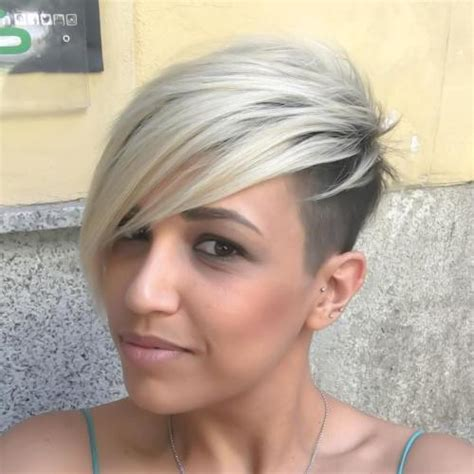 how can i even out my asymetrical pixie 40 hair сolor ideas with white and platinum blonde hair