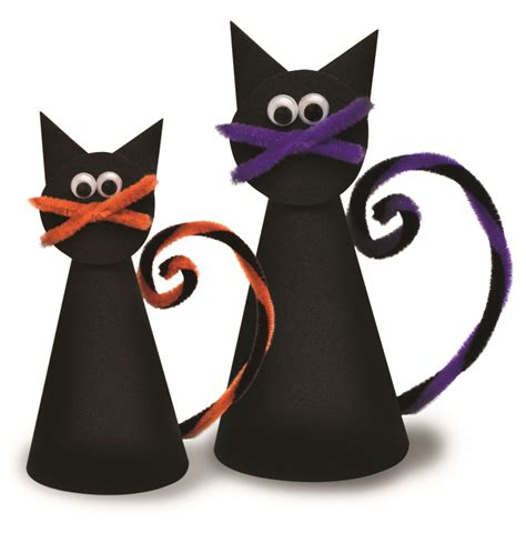 cat craft projects spooky cats