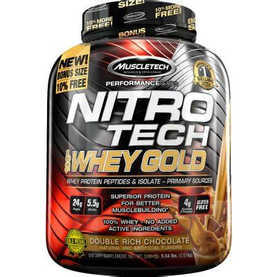 Nitrotech Whey Gold 6lbs nitro tech 100 whey gold by muscletech lowest prices at