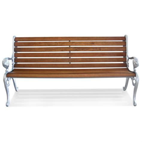 no bench lion park bench aluminium ends 232006 patio furniture at sportsman s guide