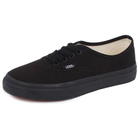 black canvas shoes for vans authentic veeobka canvas laced trainers shoes