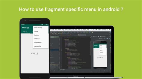 android oncreateoptionsmenu how to use fragment specific menu in android