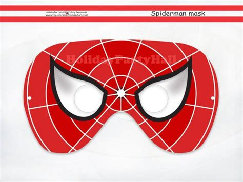 printable spider mask template spiderman printable mask spider man party masks spiderman