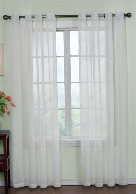 Sheer Curtains White White Sheer Curtains With Grommets Home Design Ideas