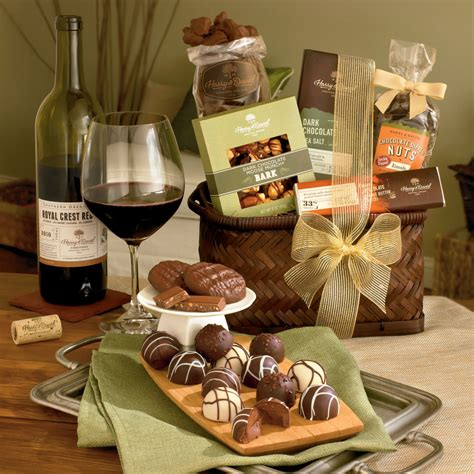 wine and chocolate gift baskets chocolate and wine gift baskets images