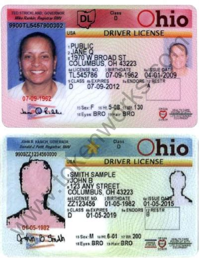 ohio id card template archives oliva misa
